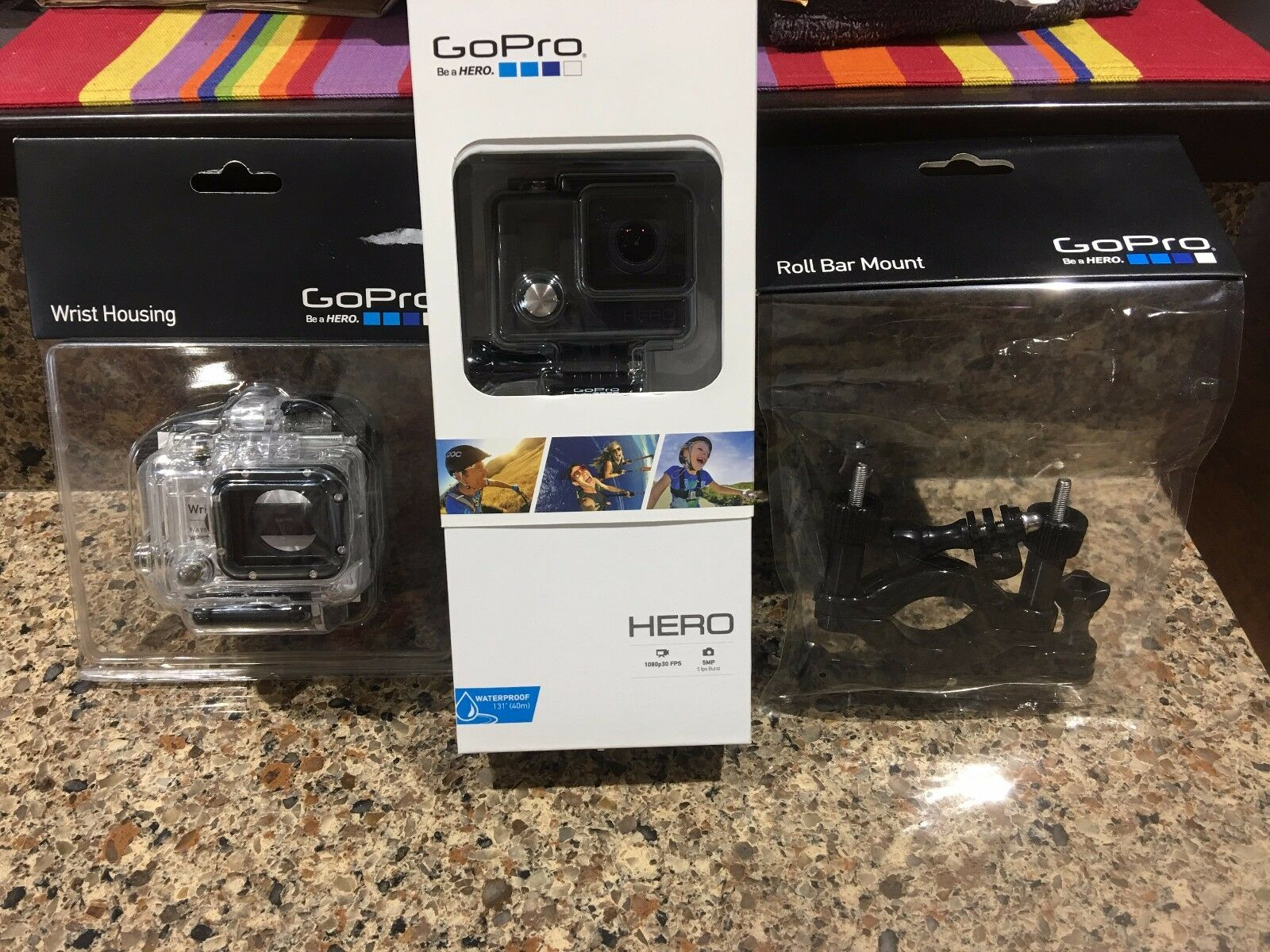GoPro Hero Action Camera HWBL1 CHDHA-301 With Extras Bundle action bundle camera extras gopro hero hwbl1 with