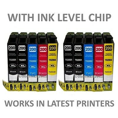 10 pack New T200XL High Yield ink for Epson Expression XP-210 XP-310 XP-410