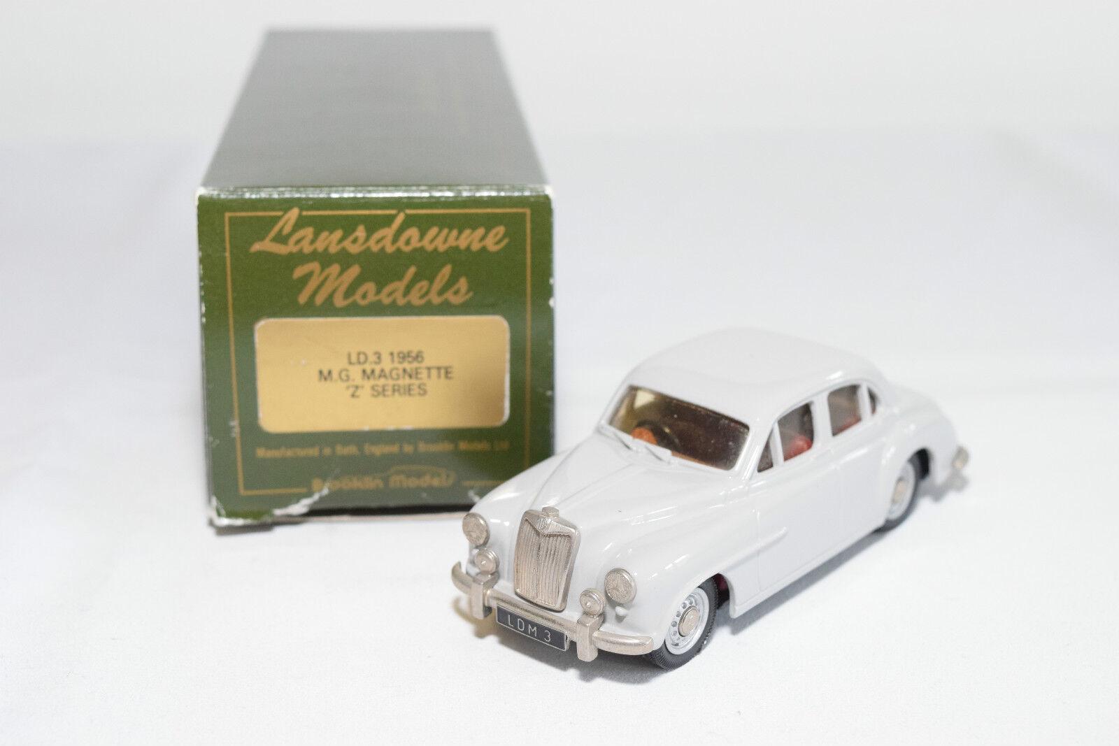 .. LANSDOWNE MODELS LDM 3 M.G. MAGNETTE Z SERIES 1956 GREY MINT BOXED