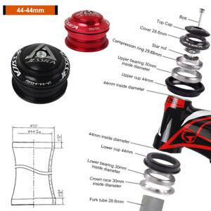 "MEROCA 44mm MTB Bearing Headsets 1-1//8/"" Threadless Road Bike Bicycle Fork Parts"