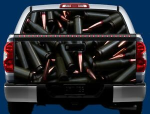 Ammunition Ammo Bullets Truck Tailgate Wrap Vinyl Graphic Decal