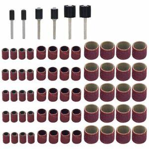 66Stk-Trommelschleifmaschinen-Set-Einschliesslich-60Stk-Schleifbaender-Und-P8T6