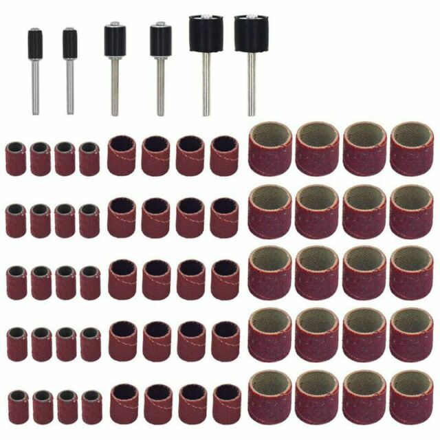66Stk Trommelschleifmaschinen-Set,Einschliesslich 60Stk Schleifbaender Und  P8T6