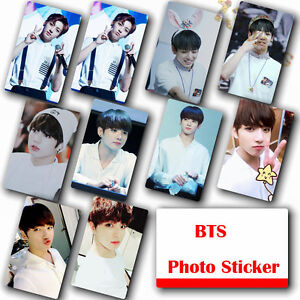 10Pcs-Set-Kpop-Bangtan-Boys-JUNG-KOOK-HD-Photocard-Crystal-Card-Sticker