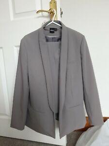 Asos-Light-Grey-Trouser-Suit-Ladies-size-12-14