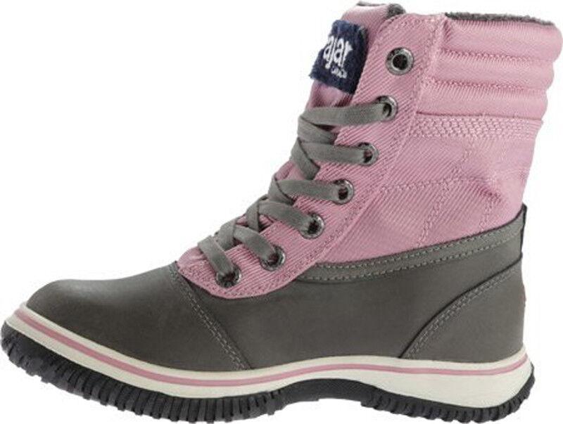 Nuevas botas para mujer Leslie pajar Rosa/Gris Rosa/Gris Rosa/Gris Impermeable Invierno Talla US 77.5 c60790
