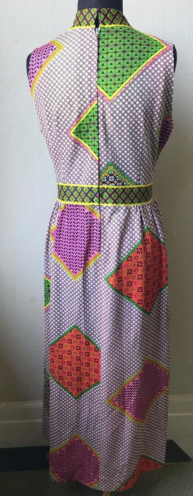 60's Really Cute Patchwork Mod Look Summer Maxi D… - image 7