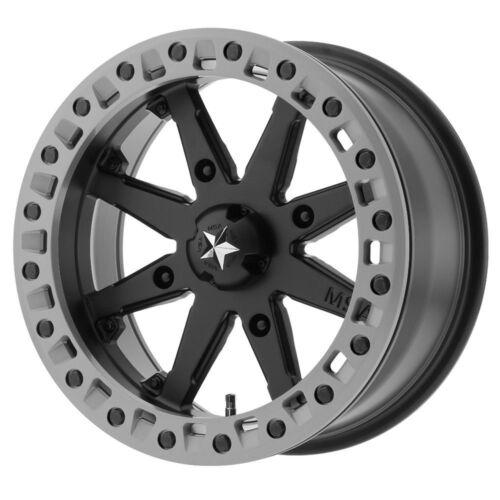 """0mm Black Gray Wheel Rim 15 /"""" Inch 15x7 MSA M31 Lok2 Beadlock ATV UTV 4x137"""