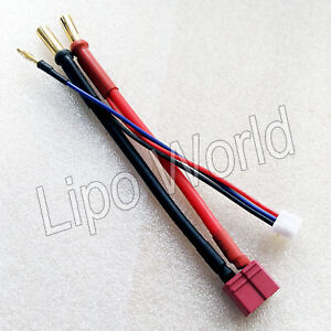 5mm-Bananenstecker-auf-DEANS-T-Buchse-Hardcase-2s-12AWG-Adapter-Lade-Kabel-Akku