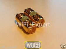 2 x RP-SMA female To RP-SMA female connect 2 Males RF Connector Adapter USA