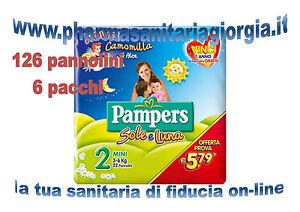 Pflege 126 Windeln Pampers Sonne Und Luna Taglia 2 Mini3-6kg 6 Stapel Von 21 StÜcke Cad SchüTtelfrost Und Schmerzen