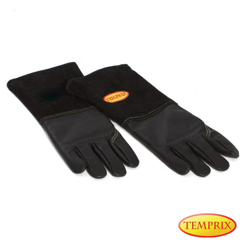 Grillhandschuhe Handschuhe Ofenhandschuhe Grill Hitzebeständig Ofen Leder BBQ L