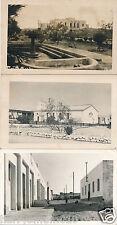 Postcard  photograph Tobruk Lybia Palace church street x 3 postcards 1957 used 8