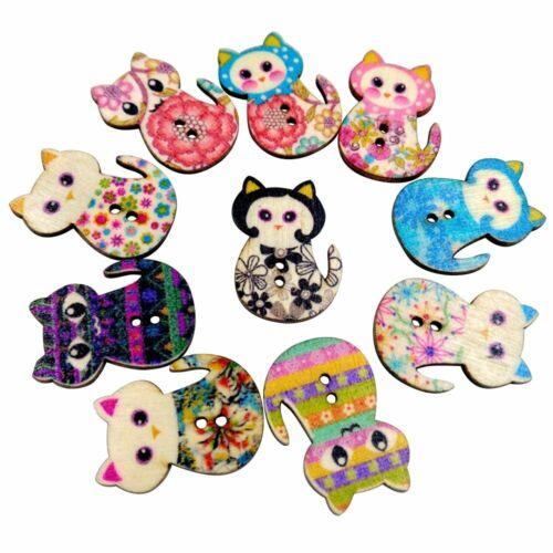 Gato De Manualidades Adornos Botones de Gato formas de gato de color costura scrapbooking