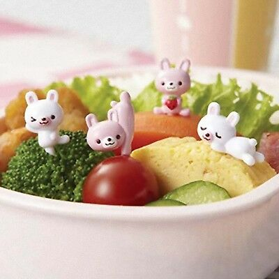 Rabbit Torune Food Pick  8 pcs BENTO Lunch box Accessories