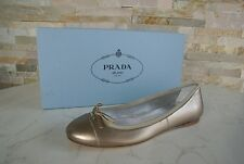PRADA Gr 35,5 Ballerinas Slipper Halbschuhe Schuhe Shoes Leder neu UVP 375€