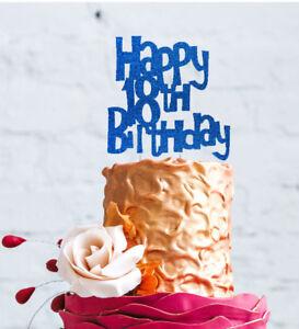 Prime Happy 18Th Birthday Cake Topper Glittery Dark Blue Number 18 Funny Birthday Cards Online Inifodamsfinfo
