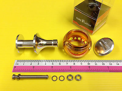 Surecatch Large Size Gold Color Handle Round Knob for Daiwa Spinning Reel.