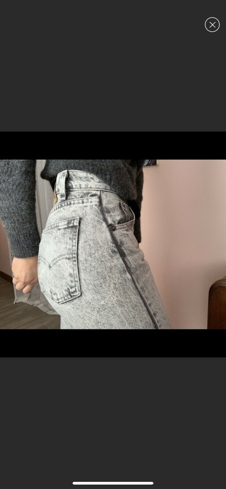 vintage high rise levis made in USA Gray - image 2