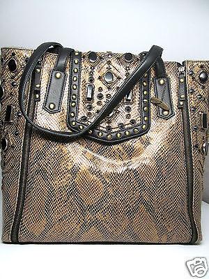 Mary Frances Dharma Black Gold Beaded Buddha Crossbody Handbag Clutch Bag New