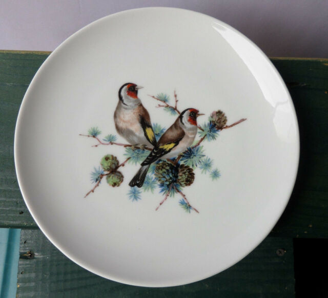Kaiser W. Germany Bird Plate Fine German Porcelain European Gold Finch Red Face