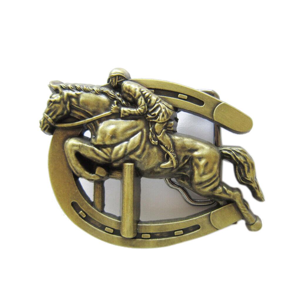 Jockey I Gürtelschnalle Pferderennen Reiter Reiten Pferd Pferde Rennbahn