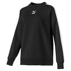 PUMA-Women-039-s-Classics-T7-Crewneck-Sweatshirt
