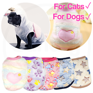 Pet Fleece Clothes Puppy Dog Jumper Sweater Small Yorkie Chihuahua Cat Outfit Uk Ebay