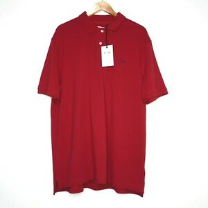 R.M. Williams NWT Mens Short Sleeve Polo Shirt Size XXL Red RRP $79.95