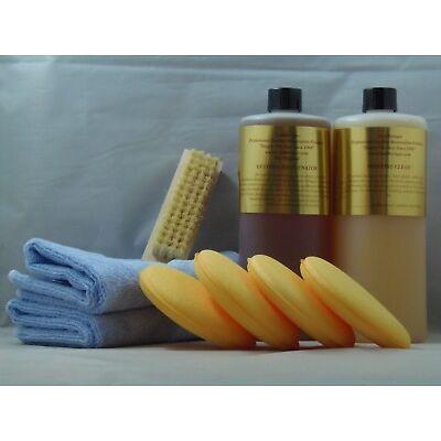 Leatherique kit Rejuvenator Oil Prestine Clean 32oz towel brush applicators