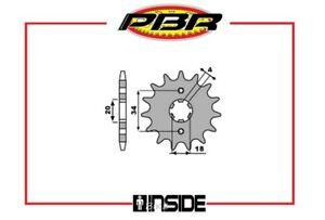 PBR-259-PIGNONE-TRASMISSIONE-16-DENTI-PASSO-428-HONDA-MTX-RW-125-1986