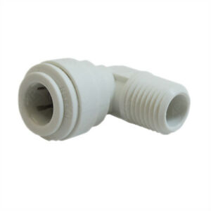 John Guest Speedfit PP480822W 1/4OD by 1/4NPTF Fixed Elbow, 10-Pack