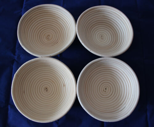 "4pcs 10/""//25cm Round Bread Rattan Banneton Brotform Dough Proofing Proving Basket"