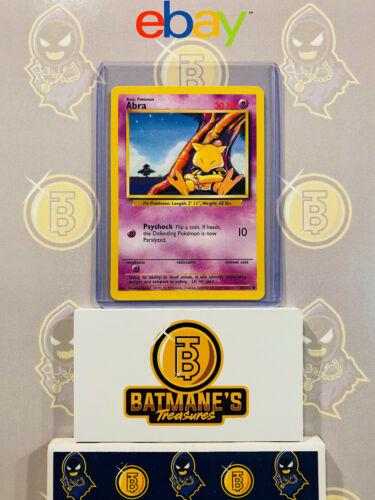 Abra 43//102 NM Near Mint Base Set Non-Holo Pokemon Card 1999 WOTC