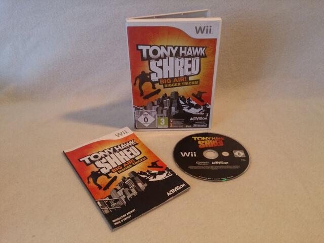 Tony Hawk SHRED Nintendo Wii 2010 DVD Box