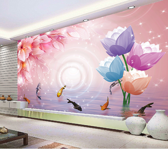 3D Umbrella 485 Wallpaper Murals Wall Print Wallpaper Mural AJ WALL UK Lemon