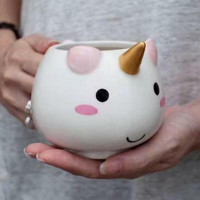 3D Unicorn Coffee Milk Water Mug Cup Ceramic Cartoon Novelty Birthday Gift Cute