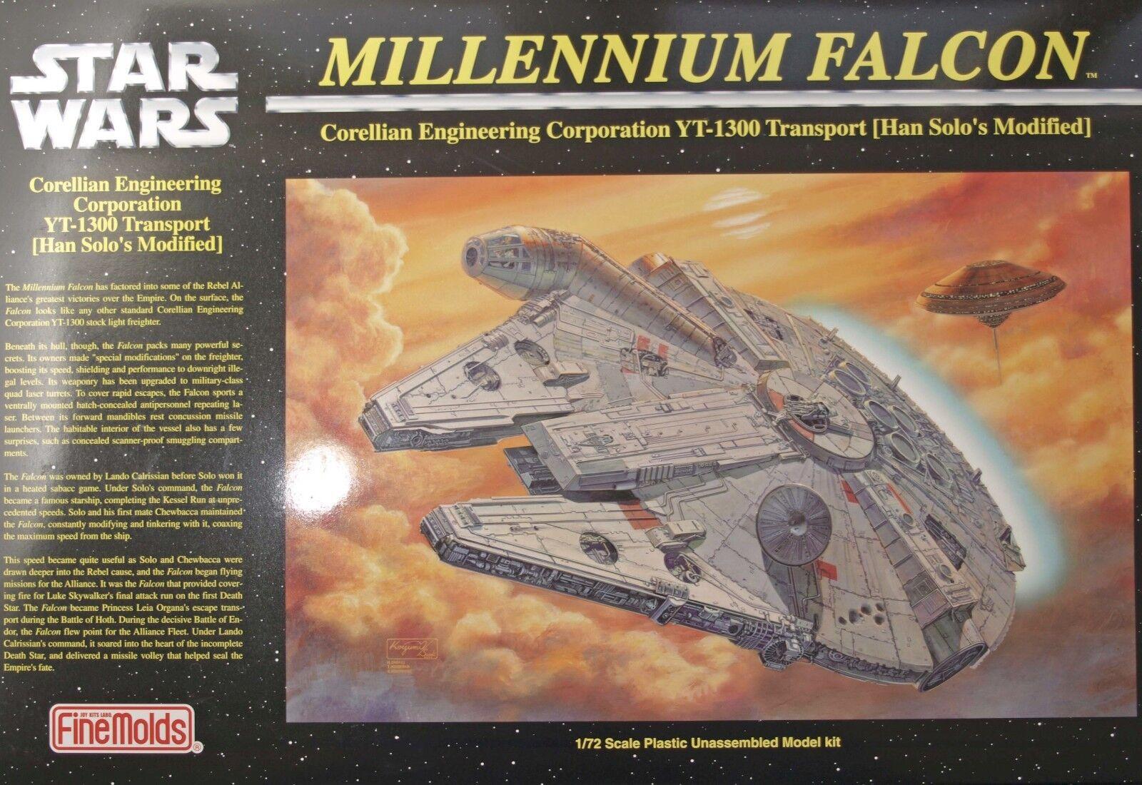FineMolds Star Wars Han 1/72 Han Wars Solo Millenium Falcon Plastic Model Kit 75fa65
