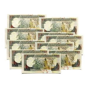 10 Somalie 50 Shillings 1991 P-r1 Au-unc.