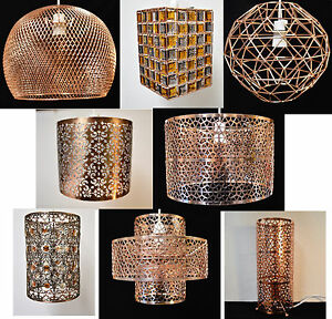 COPPER-COLLECTION-PENDANT-CEILING-SHADES-TABLE-LAMP