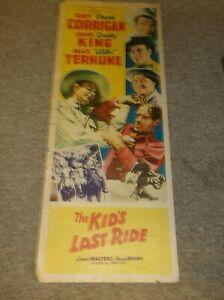"THE KID'S LAST RIDE(1941)RAY CORRIGAN ORIGINAL INSERT POSTER 14""BY36"" NICE"