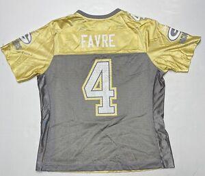 Green-Bay-Packers-Brett-Favre-NFL-Yellow-Football-Jersey-Reebok-Women-s-Large