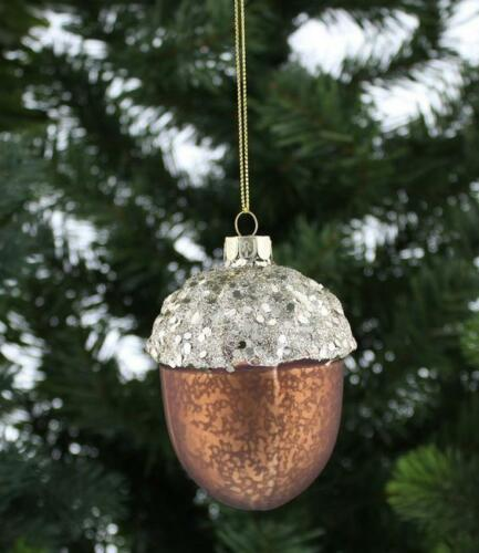 THE SEASONAL AISLE Acorn with Glitter Detail INDIVIDUAL CHRISTMAS TREE Ornament