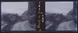 Chemin Montagne c1920 Negativo Foto Stereo Placca Da Lente VR12nc9