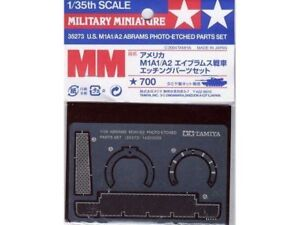 Tamiya 35273 x 1//35 US M1A1 M1A2 Abrams Photo Etched Parts Set