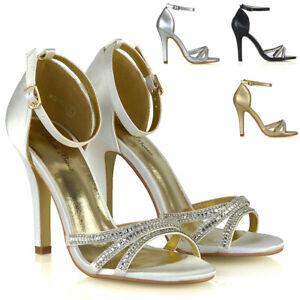 Para-mujeres-Zapatos-Tacon-Stiletto-brillante-Damas-Nupcial-Noche-Correa-De-Tobillo-Sandalias-3-8