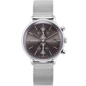Gant-GTAD08900499I-Reddell-grau-silber-Edelstahl-Armband-Uhr-Herren-NEU
