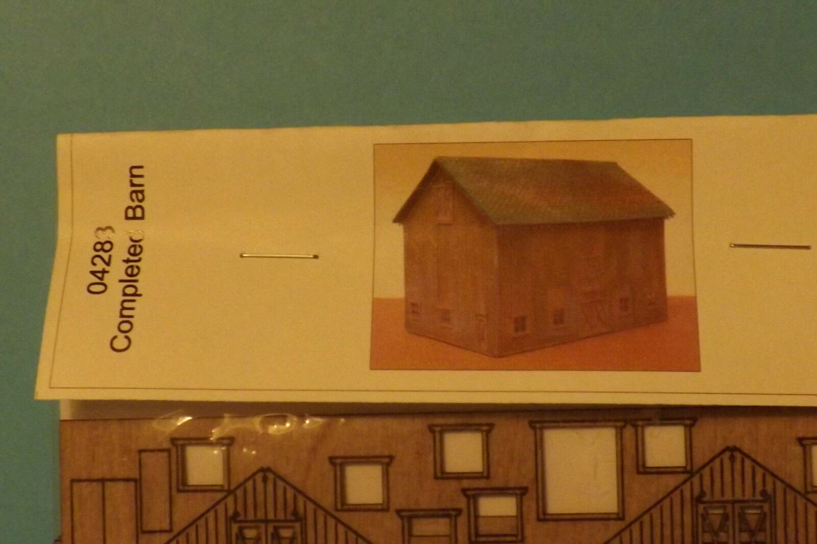 COMPLETED BARN  KIT N SCALE by gc laser
