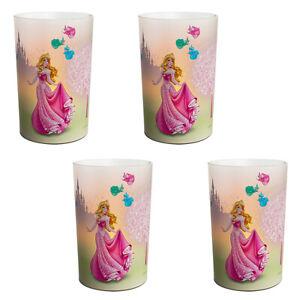 4-Pack-of-Disney-039-s-Princess-LED-Tea-Cup-Table-Lamp-Modern-Home-Lamp-Litecraft