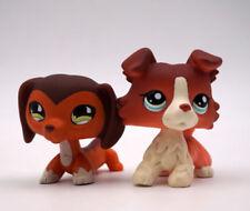 Littlest Pet Shop LPS Dachshund Dog #675#852 Teardrop Eye Shorthair Cat Toy 2pcs
